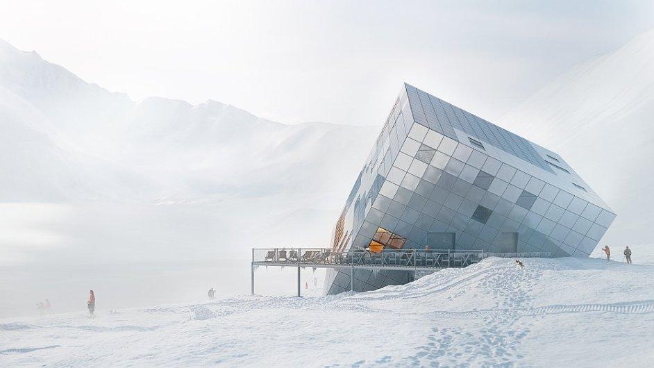 Architektonický návrh na realizaci Kežmarovy chaty.