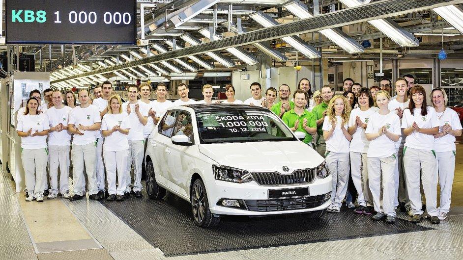 Škoda loni poprvé vyrobila více než milion aut ročně.