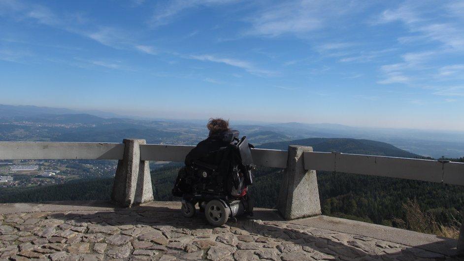 Handicapovaný klient Bezbatour na výletě