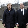 Angela Merkelov�, Francois Hollande a Mariano Rajoy.