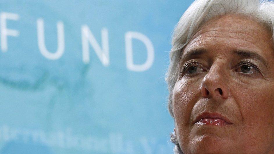 Výkonná ředitelka Mezinárodního měnového fondu Christine Lagardeová.