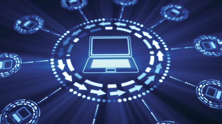 Služba, počítačová síť – ilustrace