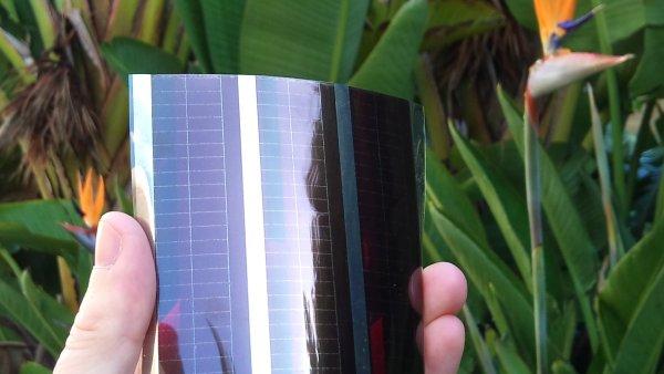 Vytištěný solární panel na plastu