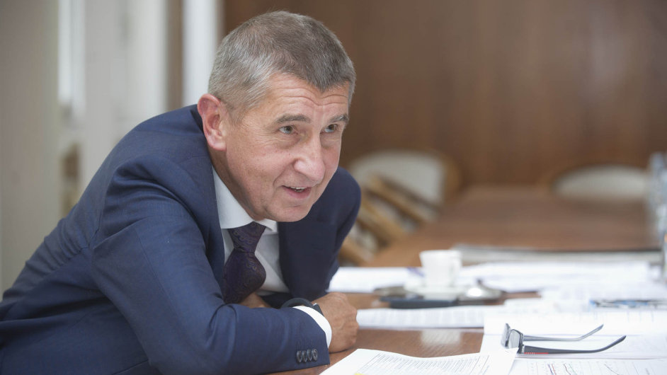Andrej Babiš, ministr financí a předseda hnutí ANO.