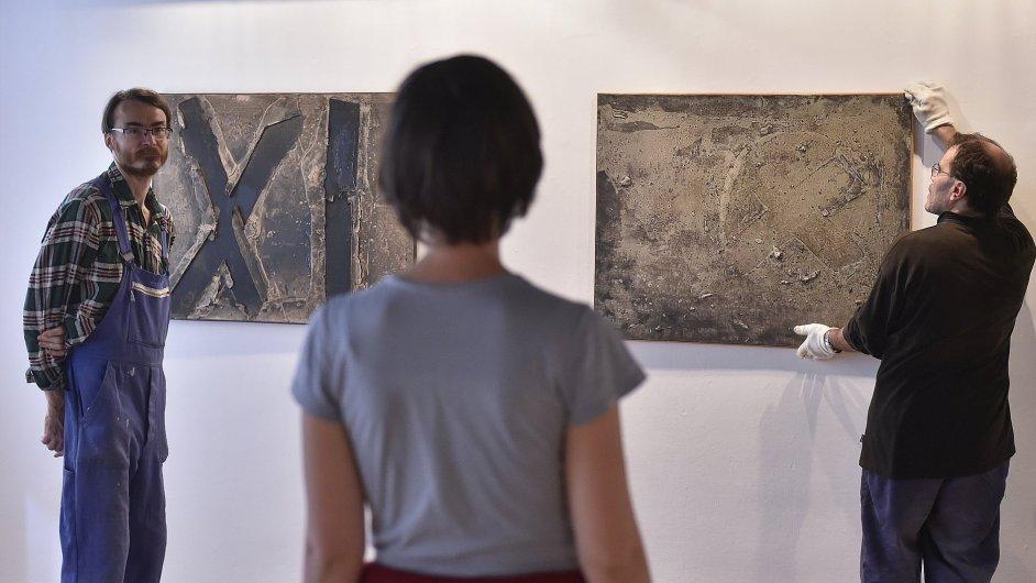 Snímek z výstavy Čestmíra Kafky