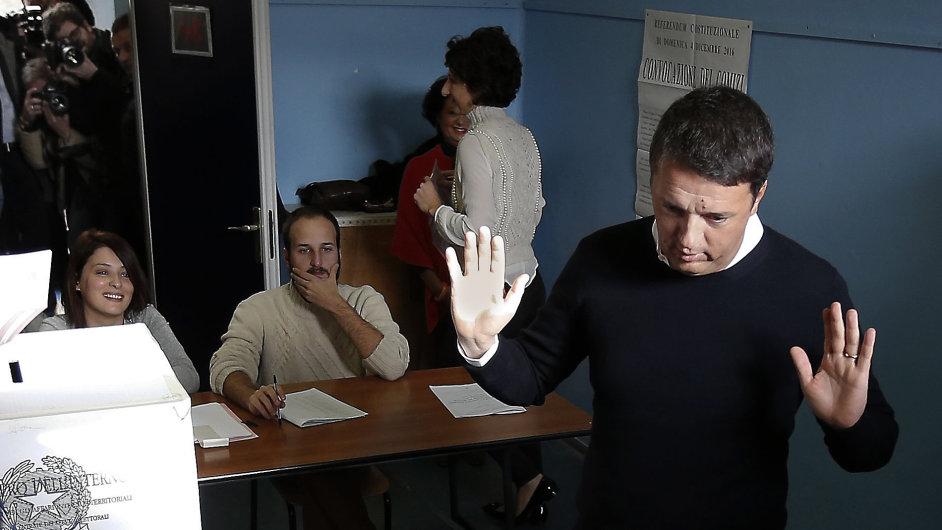 Italský premiér Matteo Renzi rezignuje na svůj úřad.