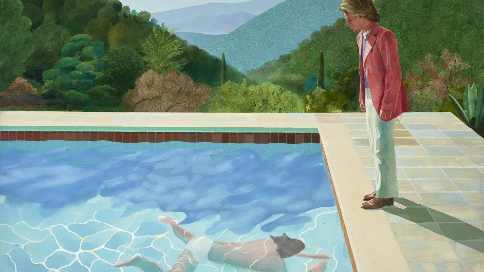 David Hockney: Portrét umělce (Bazén s dvěma postavami), 1971