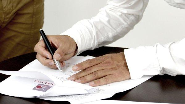 Podpis smlouvy, ilustrace