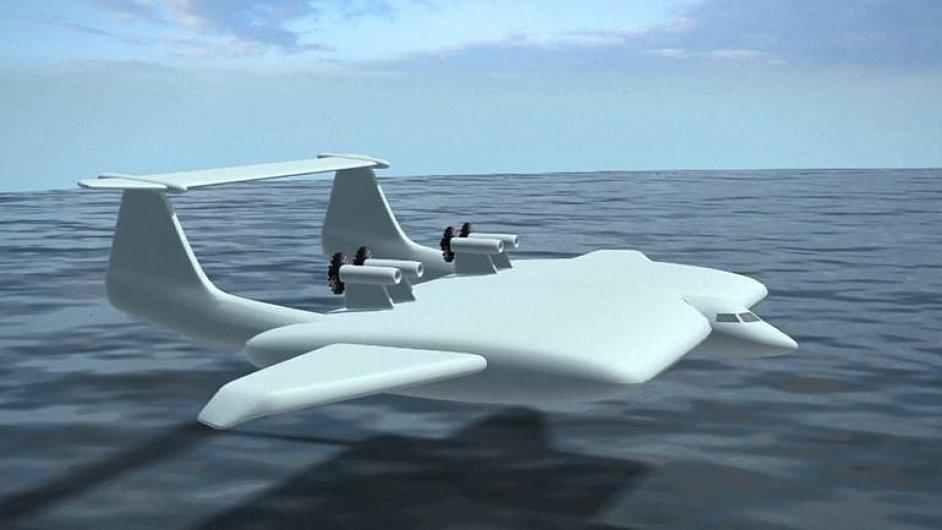 Rusové staví nízko létající letadlo na zemní plyn. Má unést 500 tun nákladu