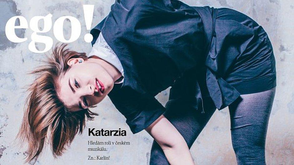 Slovenská zpěvačka Katarzia na titulní straně magazínu ego!
