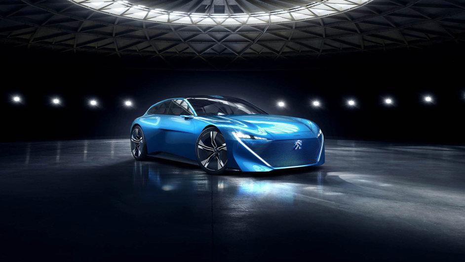 Prototyp nastánku Peugeotu jezdí naelektřinu azvládá to sám. Řidiči ale dává volbu. Nabízí buď jízdu sřízením, nebo dva režimy autonomní.