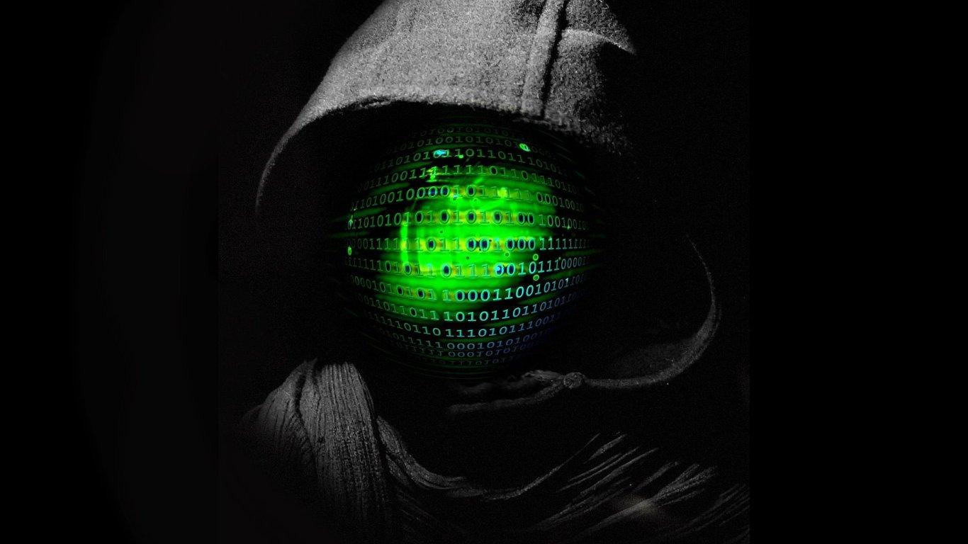 Ransomware, malware, hacker, ilustrace