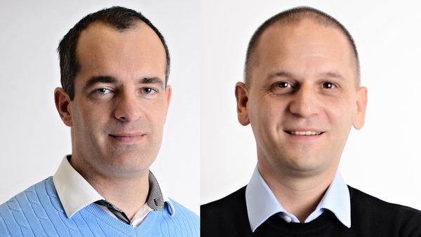 David Vychytil, CEO prodejního portálu Aukro, David Fuchs provozní ředitel