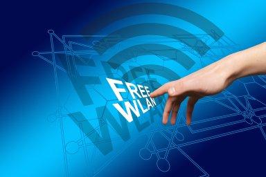 Free WLAN, Free Wifi, ilustrace