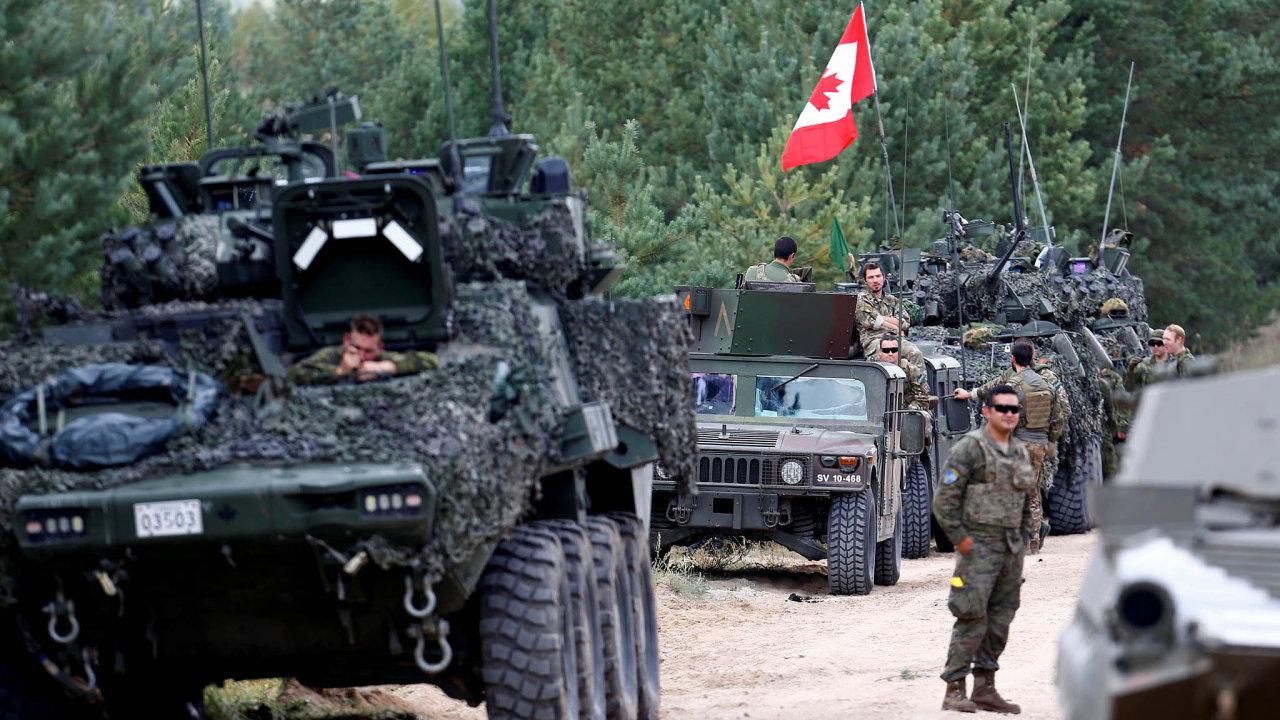 Vojáci na Baltu: Kanadské jednotky namanévrech NATO vLotyšsku počátkem září. Cvičení Namejs 2018 je největší vzemi odzískání samostatnosti.