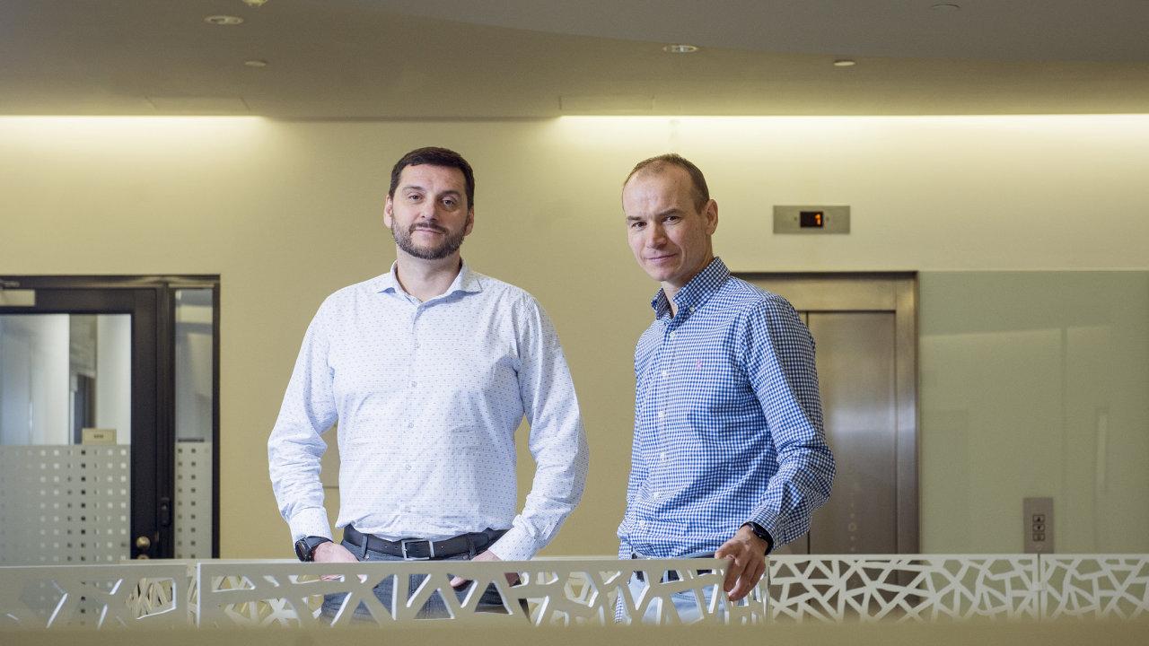 Šéf Nordic Telecomu Libor Dočkálek a investiční manažer mateřské finanční skupiny Nordic Investors Jan Čornej.
