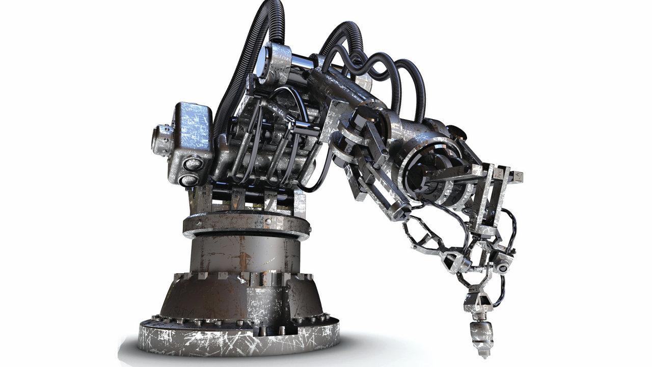 Průmysl 4.0, průmyslový robot, ilustrace