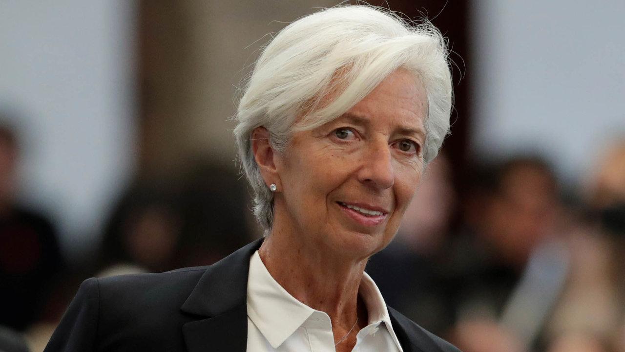 Christine Lagardeová je francouzská politička a generální ředitelka Mezinárodního měnového fondu, která se od listopadu stane šéfkou Evropské centrální banky.