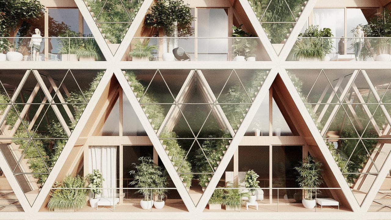 Publikum konference zaujaly stavby navržené rakouským ateliérem Precht. Jejich domy jsou charakteristické množstvím zeleně.