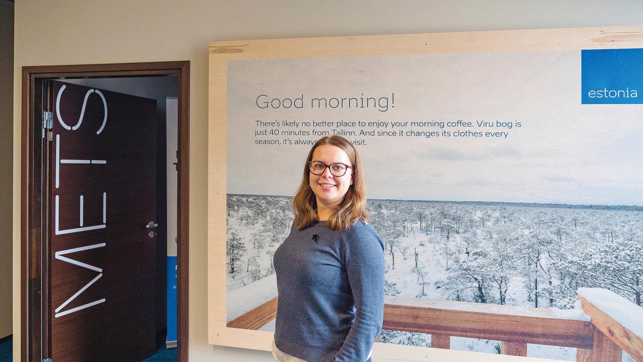 Michaela Snopková vTallinnu vMezinárodním domě Estonska, který funguje jako informační centrum procizince.