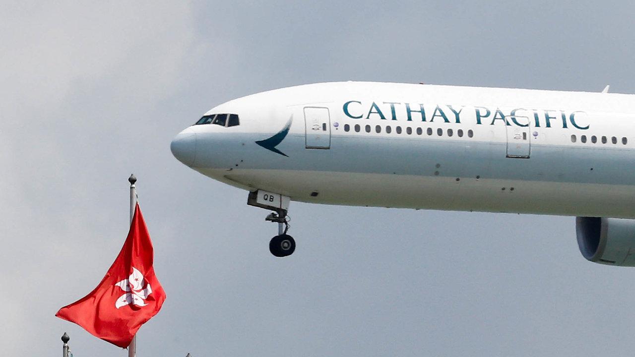Cathay Pacific Airways jsou vlajkovou leteckou společností Hongkongu.