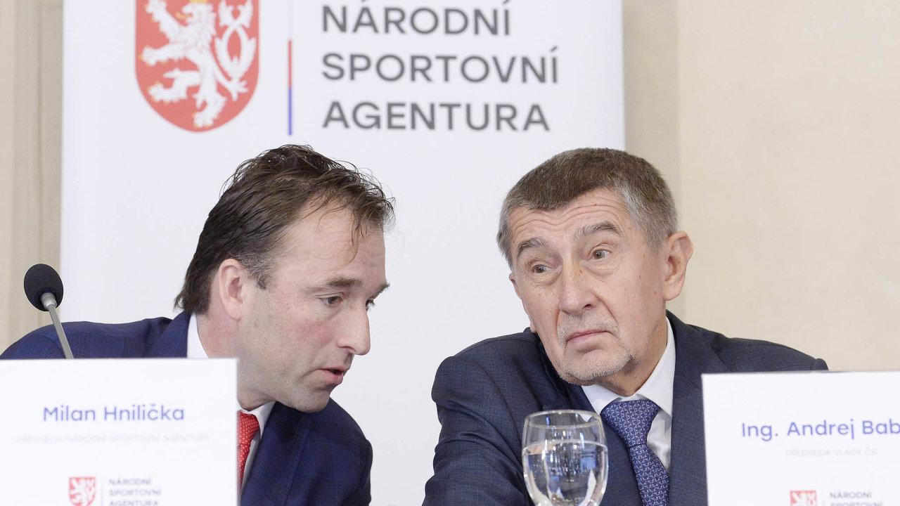 Premiér Andrej Babiš (ANO) má odnové Národní sportovní agentury velká očekávání. Dojejího čela dosadil bývalého hokejového brankáře aposlance zahnutí ANO Milana Hniličku.