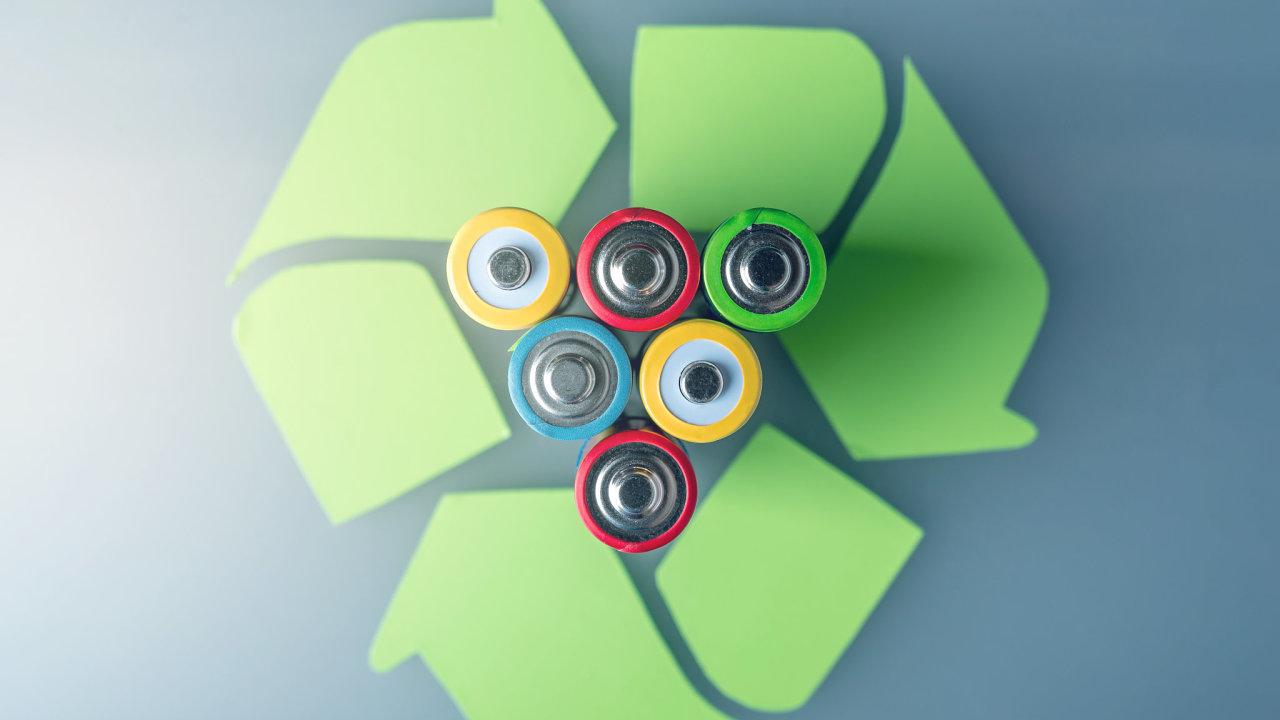 V přepočtu každý obyvatel vytřídil zhruba osm tužkových baterií typu AA (ilustrační snímek).