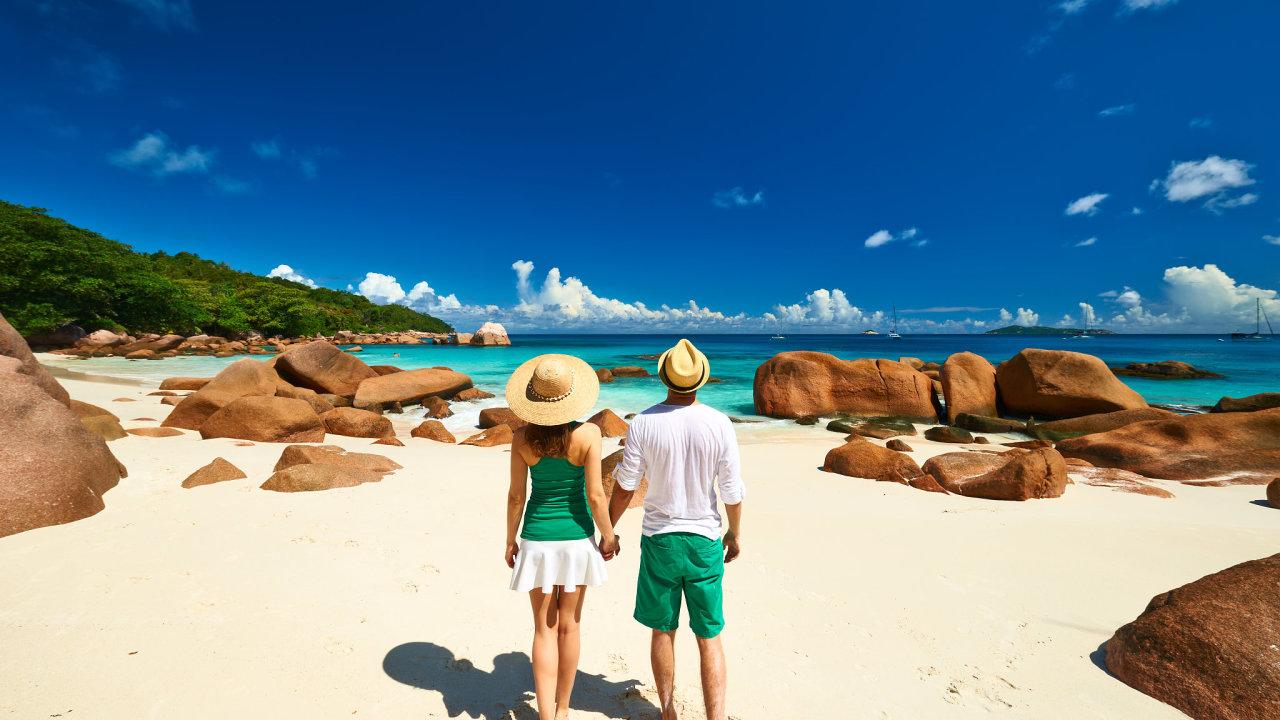 Seychely, pláž