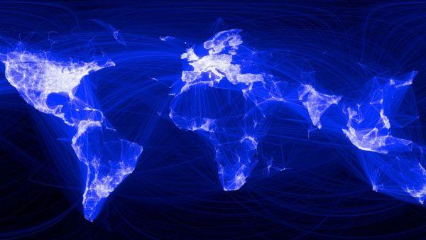 Facebook, mapa světa