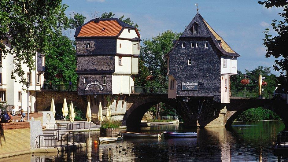 Mostní domky v Bad Kreuznachu