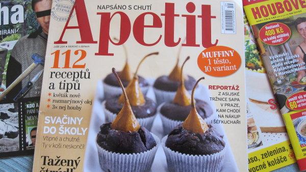 Do testu byla zařazena říjnová čísla 10 časopisů - včetně Apetitu.