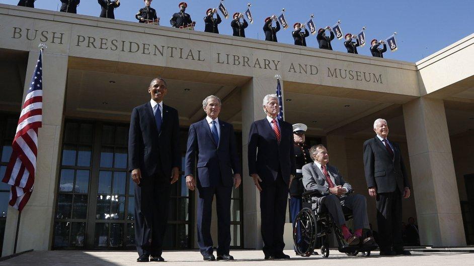 Slavnostní zahájení provozu Prezidentského střediska George Bushe mladšího.
