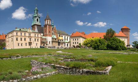 Panorama hradu Wawel, sídla polských králů a symbolu Krakova.