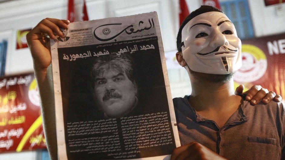 Protesty po vraždě tuniského opozičního politika