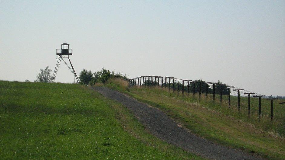 Železná opona. Čížov. Ilustrační foto