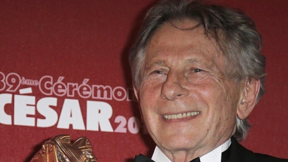 Režisér Roman Polanski převzal cenu César za režii 2014.
