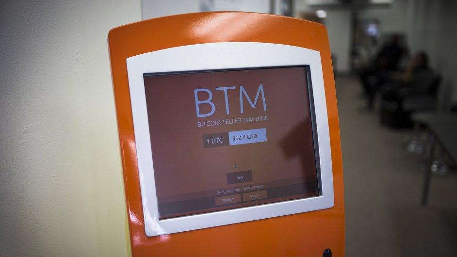 Bankomat na Bitcoiny v Torontu. Ilustrační foto