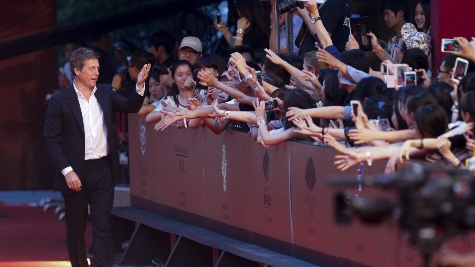 Britský herec Hugh Grant byl minulou sobotu hvězdou Šanghajského filmového festivalu.
