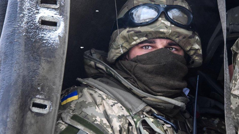 Ukrajinský voják.