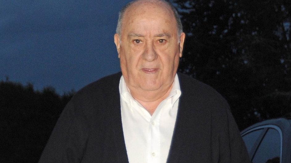 Amancio Ortega, většinový majitel skupiny Inditex a druhý nejbohatší muž světa.