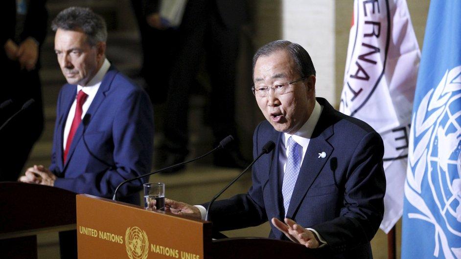 Šéfové OSN Pan Ki-mun a Mezinárodního výboru Červeného kříže Peter Maurer vydali společnou výzvu k zastavení válek.