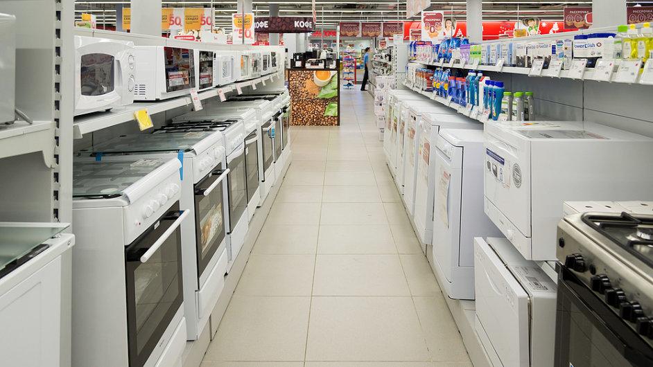 Obchod s elektronikou v Moskvě, elektronika - ilustrační foto