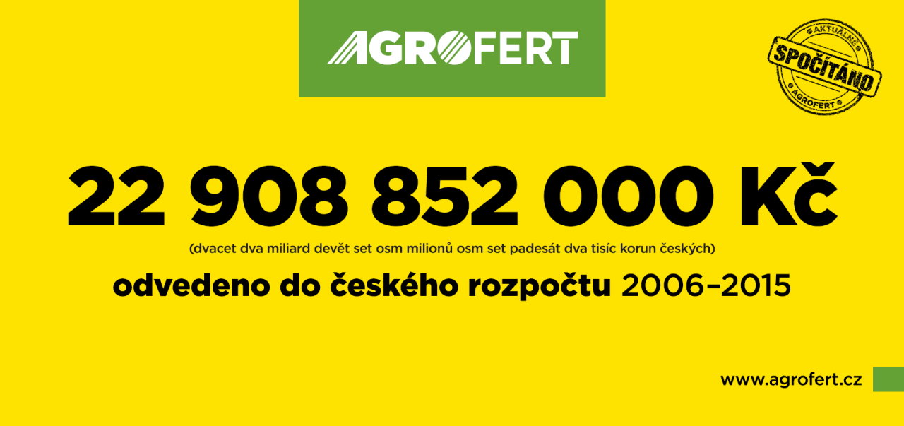 Agrofert spou�t� kampa� reaguj�c� na politick� �toky