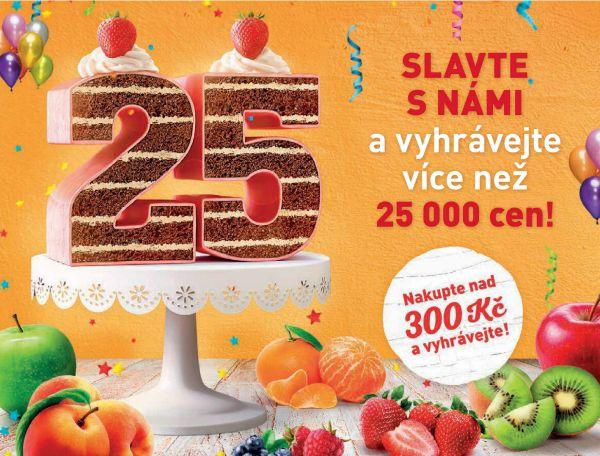Vizu�l 25. narozenin supermarket� Billa v �esk� republice