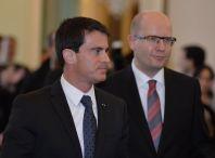 Francouzský premiér Manuel Valls a �eský p�edseda vlády Bohuslav Sobotka.