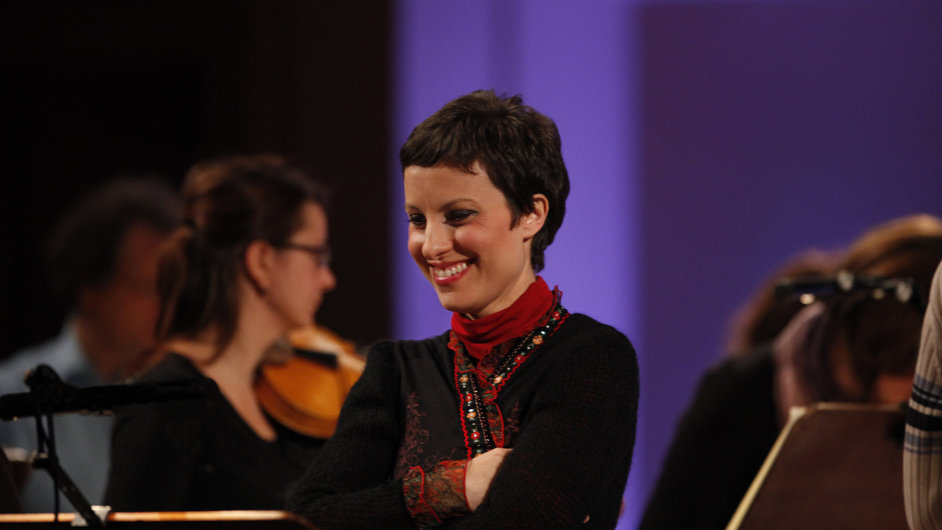 Na snímku je sólistka obou koncertů Raffaella Milanesi.
