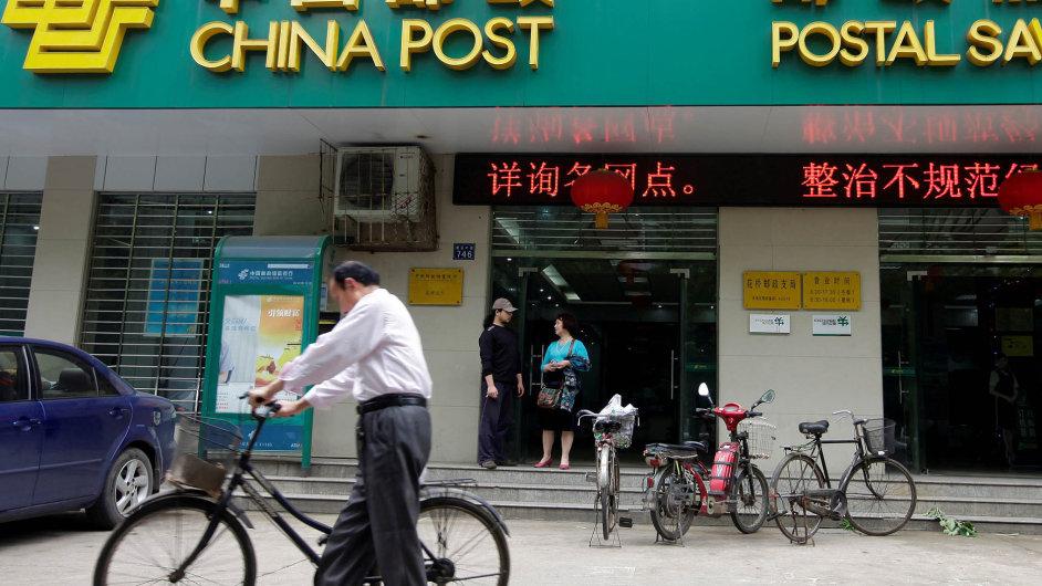 Čínská poštovní spořitelna.