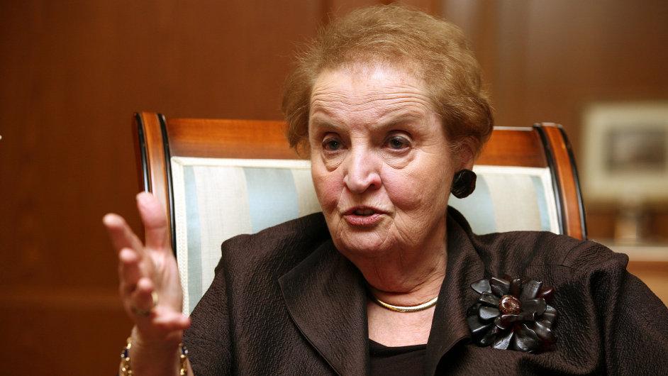Madeleine Albrightová.