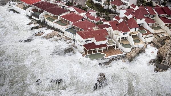 Ostrov Svatý Martin po hurikánu Irma