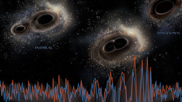 Gravitační vlny - Ilustrační foto.